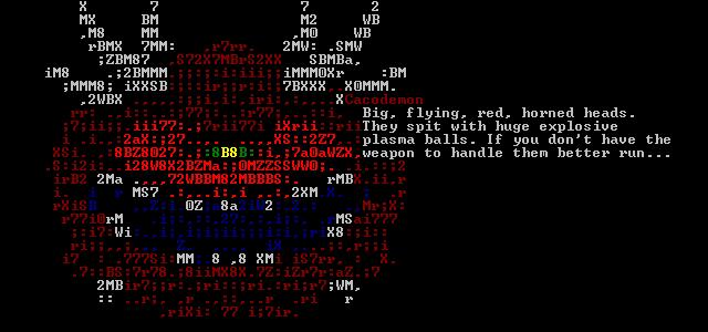 DRL Free Game - ASCII Screenshot